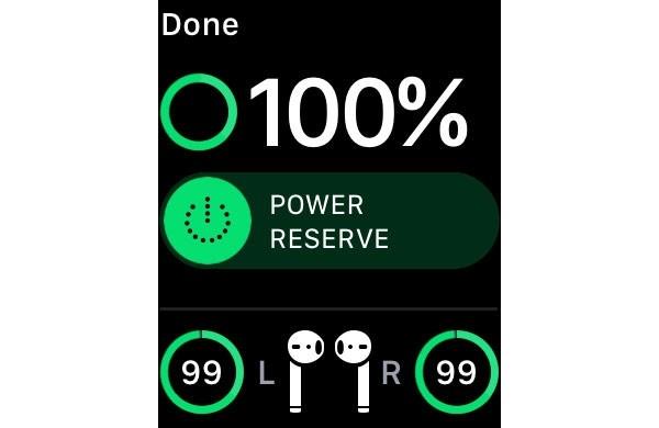 Узнать оставшийся заряд AirPods на Apple Watch