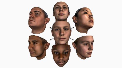 точная цифровая модель человеческого лица