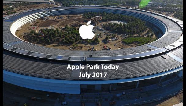 дроны над Apple Park