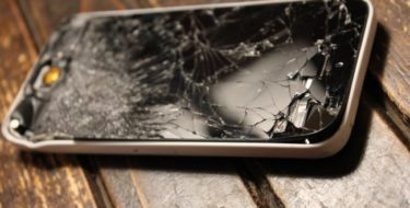 фото разбитого iPhone X